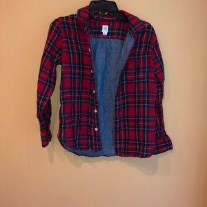 Gap flannel boys size m